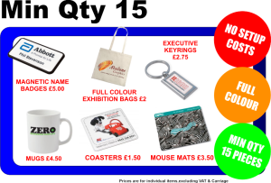 Full colour promotional products